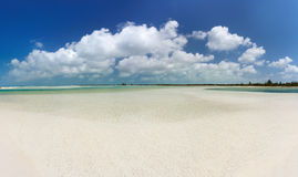 Panoramic view of tropical beach Stock Photography