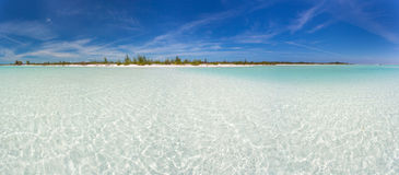 Panoramic view of tropical beach Royalty Free Stock Photos