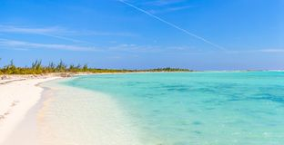 Panoramic view of tropical beach Stock Photo
