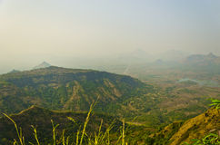 Panoramic view of a tropical hill terrain Royalty Free Stock Image