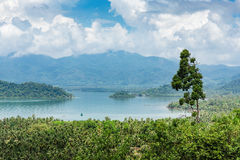 Panoramic view of the tropical island Royalty Free Stock Images