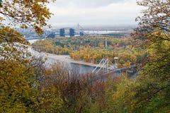 Panoramic view on Trukhanov island. Kiev Stock Image