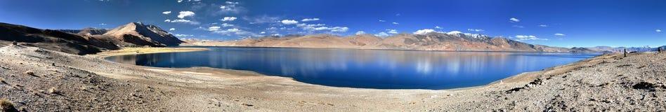 Panoramic view of Tso Moriri lake Stock Image
