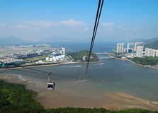 Panoramic view of Tung Chung Royalty Free Stock Photo