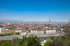 Panoramic view of Turin, Italy Stock Photography