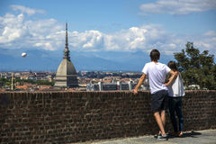 Panoramic view of Turin city center, in Italy Stock Images