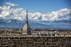 Panoramic view of Turin city center, in Italy Stock Photography