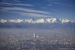 Panoramic View of Turin City Stock Photo