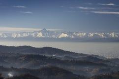 Panoramic View of Turin City Stock Photos
