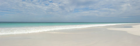 Panoramic view of turqoise paradise beach Royalty Free Stock Photography