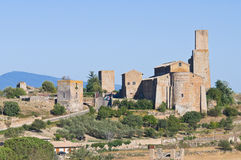 Panoramic view of Tuscania. Lazio. Italy. stock photography