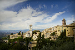 Panoramic view in Tuscany - Assisi Stock Image