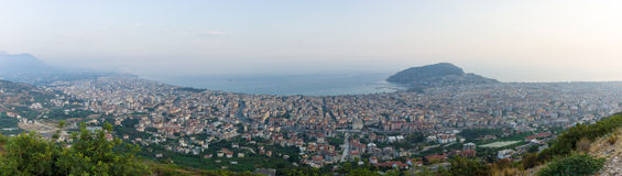 Panoramic view of twilight Alanya Royalty Free Stock Photos