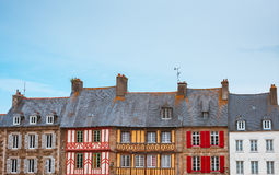 Panoramic view of typical French houses Bretagne Royalty Free Stock Photos