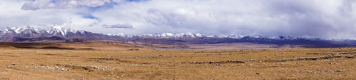 Panoramic view typical mountain landscape - Tibet Stock Photo