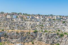 panoramic view of typical stones house Sassi di Matera of Matera UNESCO European Capital of Culture 2019 Stock Photography