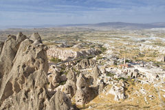 Panoramic View From Uchisar Castle Royalty Free Stock Images
