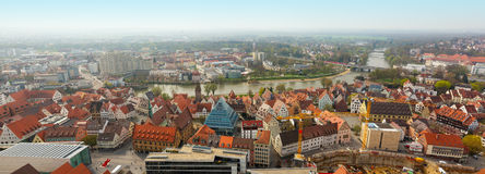 Panoramic view from Ulm Munster church, Germany Royalty Free Stock Images