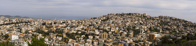 Panoramic view Um El Fahem Israel Royalty Free Stock Photos