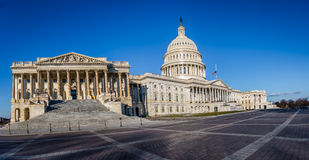 Panoramic view of United States Capitol Building - Washington, DC, USA Royalty Free Stock Photos