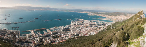 Panoramic view of the Upper Rock and its surroundings Royalty Free Stock Photography