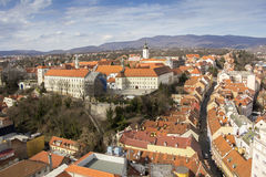 Panoramic view of the Upper Town in Zagreb Royalty Free Stock Image