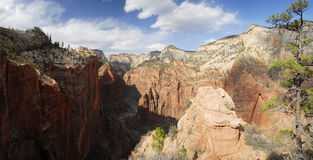 Panoramic view of Upper Zion Canyon Stock Images