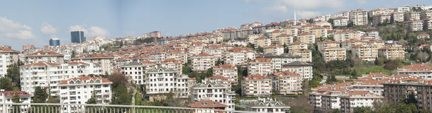 Panoramic view of urban housing district Stock Images