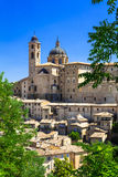 Panoramic view of Urbino, Marche.Italy Stock Images