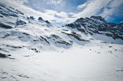 Panoramic view of Urner Alps Stock Image