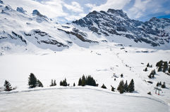 Panoramic view of Urner Alps Royalty Free Stock Image