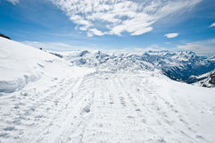 Panoramic view of Urner Alps Stock Photography