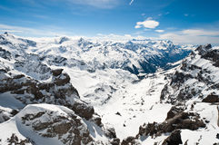 Panoramic view of Urner Alps Stock Photos