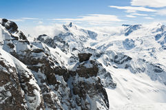 Panoramic view of Urner Alps Royalty Free Stock Images