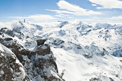 Panoramic view of Urner Alps Royalty Free Stock Photo