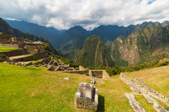 Panoramic view of Urubamba Valley from Machu Picchu, Peru Stock Photos
