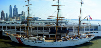 Panoramic view of USCGC Eagel Royalty Free Stock Photo