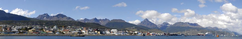 Panoramic View of Ushuaia Royalty Free Stock Images