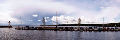 Panoramic View in Vaestergoetland, Sweden Royalty Free Stock Photos