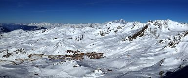 Panoramic view of Val Thorens. France Royalty Free Stock Photography