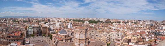 Panoramic view of Valencia Stock Photography