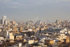 Panoramic view of Valencia, Spain Royalty Free Stock Photos
