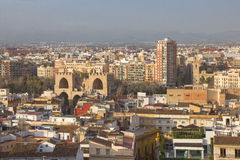 Panoramic view of Valencia, Spain Stock Images