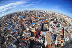 Panoramic view of  Valencia, Spain Royalty Free Stock Images