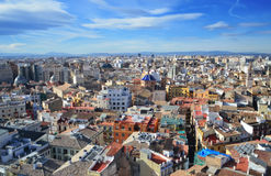 Panoramic view of Valencia, Spain Stock Photography