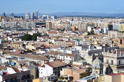 Panoramic view of Valencia, Spain Royalty Free Stock Image