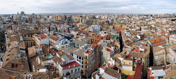 Panoramic view of Valencia Royalty Free Stock Images