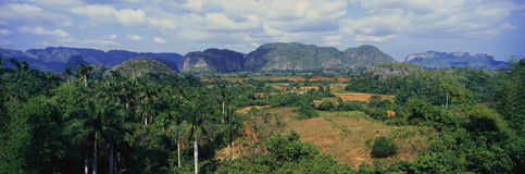 A panoramic view of the Valle de Vi�ales, in central Cuba Royalty Free Stock Images