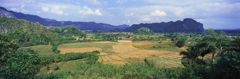 A panoramic view of the Valle de Vi�ales, in central Cuba Royalty Free Stock Photos