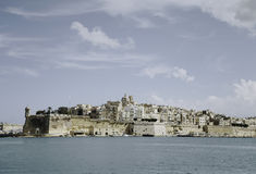 Panoramic view of Valletta, Malta. On a sunny day with blue sky Royalty Free Stock Image